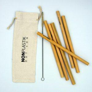ökologisch und natürlich Bambus-Strohhalmen