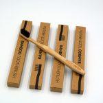 Bambus-Zahnbürsten Mit Holzkohleborsten