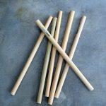 ökologisch und natürlich Bambus Strohhalmen