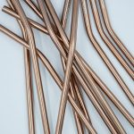 Rose gold metal straws, reusable straws